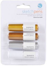 Silhouette CAMEO Sketch Pen Metallic Pack - 4 Colours