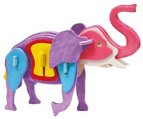 Robotime 3D Wooden Puzzle With Paints - Elephant
