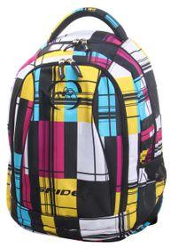 Spider Medium Orthopaedic 3 Division Backpack - White & Yellow