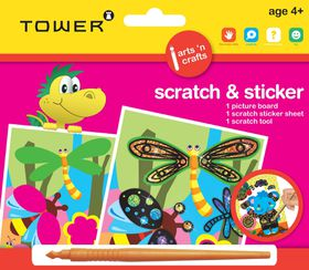 Tower Kids Scratch & Sticker - Dragonfly