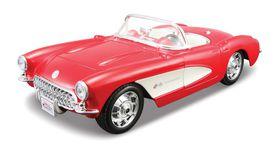 Maisto 1/24 Chevrolet Corvette 1957 Kit - Red