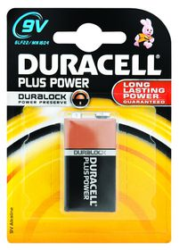Duracell Plus Power 9V Alkaline Battery
