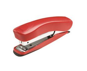 Rexel Juno 105 Half Strip Plastic Stapler & Built-In Staple Remover - Red