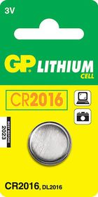 GP Batteries 3V CR2016 Lithium Coin Batteries