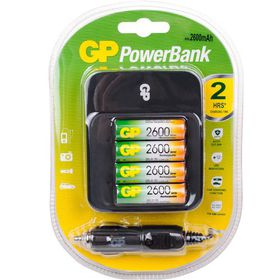GP Batteries AA 2600 mAh Rechargeable Battery and 550 Charger Bundle