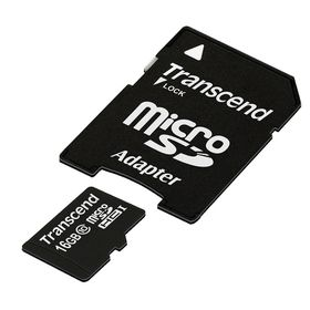 Transcend 16GB 200X Class 10 Micro SD Card with Adapter