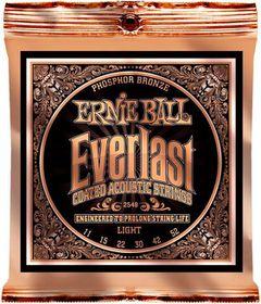 Ernie Ball 2548 Everlast Acoustic Guitar Strings Phosphor Bronze - Light (11 - 52)