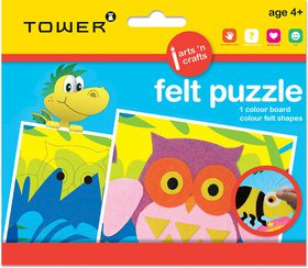 Tower Kids Felt Puzzle - Funky Owl