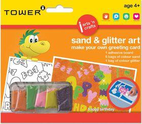 Tower Kids Sand & Glitter Art Greeting Card - Happy B'day (General)