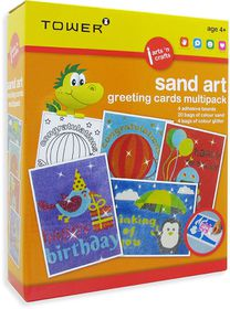 Tower Kids Multipack - Sand & Glitter Art Greeting Cards