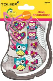 Tower Kids Shoe Decorations - Funky Owls 3