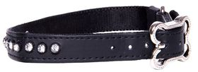 Rogz Lapz 16mm Medium Luna Pin Buckle Dog Collar - Black