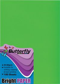 Butterfly A4 Bright Paper 100s - Green