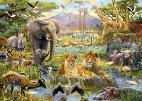 Educa Africa Watering Hole - 1500 Piece