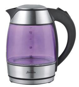 Sunbeam 1.8 Litre Glass Cordless Kettle - Purple