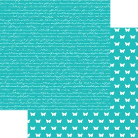 Lady Pattern Paper Basic Essentials Script - Intense Teal (10 Sheets)