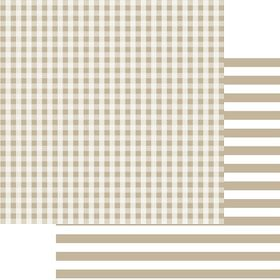 Lady Pattern Paper Basic Essentials Gingham - So Buff (10 Sheets)