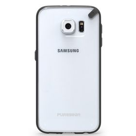 PureGear Slim Shell Case for Samsung S6 - Clear/Black
