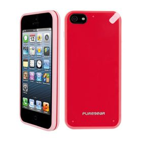PureGear Slim Shell Case for iPhone 5/5S - Red/Pink