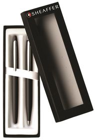 Sheaffer VFM 9405-9 Matte Black with Nickel Plate Trim Ballpoint & Fountain Pen Set