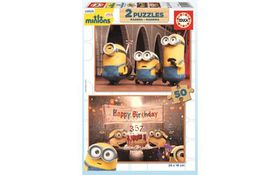 Educa Minions Wooden Puzzle 2x - 50 Piece