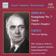 Grieg/Sibelius - Symphony No.7/Last Spring;Koussevitzky (CD)