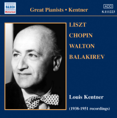 Various Kentner - Liszt Chopin Walton (CD)