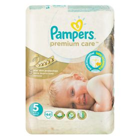 Pampers Premium Care Nappies, Size 5, Value Pack (44 Per Pack)