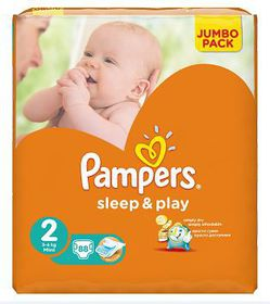 Pampers - Sleep and Play Mini Jumbo Pack 88