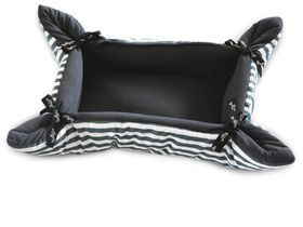 Wagworld - Tiny Cupcake Dog Bed - Grey Stripe