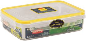 Snappy Food  - 1.1 Litre Rectangular Food Storage Container Rectangular With Dividers
