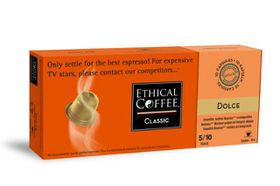 Ethical Coffee Company - Dolce Coffee Capsules - Sleeve of 10