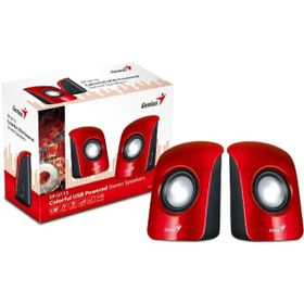 Genius S115 Compact Portable Speakers - Red
