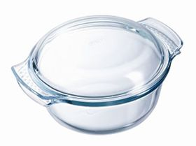 Pyrex - Classic Glass Round Casseroles Easy Grip with Lid - 1.5 Litre + 600ml