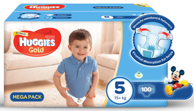 Huggies - Gold Boys - Size 5 - 100 Nappies