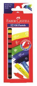 Faber-Castell 12 Jumbo Oil Pastels - 10.5mm