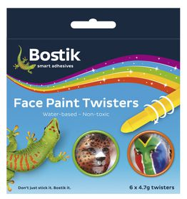 Bostik Face Paint Twisters - 6 Colours