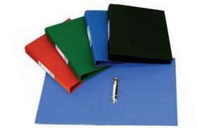 Croxley S1330 A4 2 O-Ring 25mm Polyprop Ringbinder with Pocket - Black