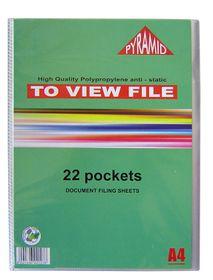 Croxley Pyramid Display File - 22 Pocket