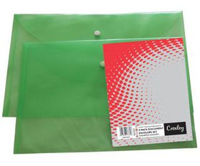 Croxley Envelope Set A4 & Foolscap - 12 Assorted Colours
