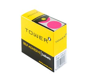 Tower C25 Colour Code Labels - Fluorescent Pink