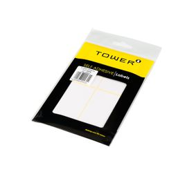 Tower White Sheet Labels - S7538
