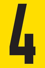 Tower Adhesive Number Sign - Small 4