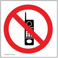 Tower ABS Sign - No Cellphones