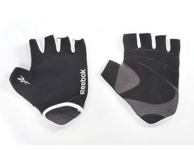 Mens Reebok Elements Fitness Gloves - Grey/White