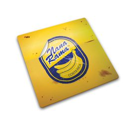 Joseph Joseph Worktop Saver Glass Chopping Board -  Banana Sticker Design