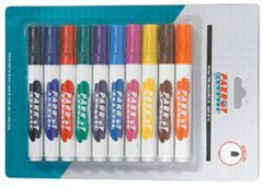 Parrot Whiteboard Marker Bullet Tip - Assorted (Pack of 10)