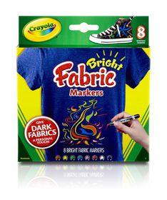 Crayola - 8 Fabric Markers