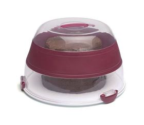 Progressive Kitchenware - Collapsible 24 Cupcake Carrier - 400 mm x 400 mm x 120 mm - Transparent