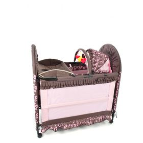 Chelino - 6-in-1 Cot - Brown and Pink
